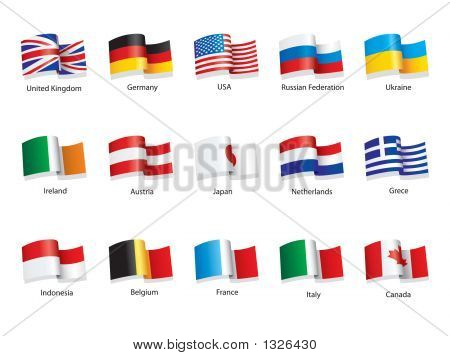 Flags Of Different World Countries