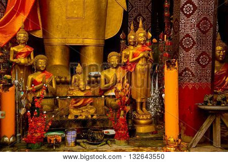 Golden Buddha Statue.luang Prabang.laos.