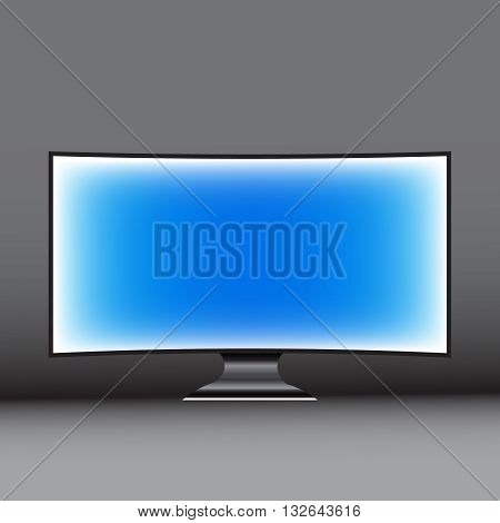 Vector computer display on a gray background