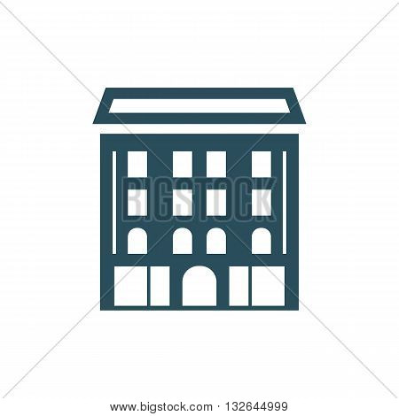 Academy building icon vector illustration isolated on white background.