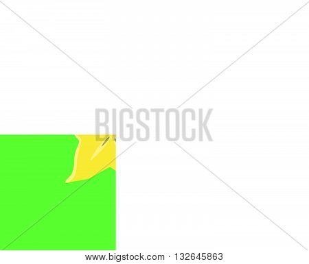 star fruit single isolated with green background vector graphic illustration