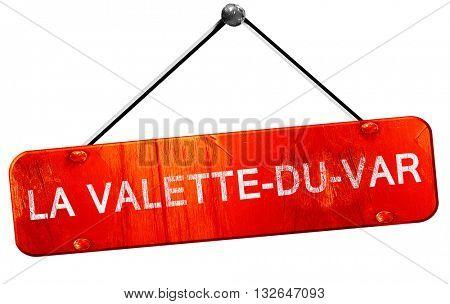 la valette-du-var, 3D rendering, a red hanging sign