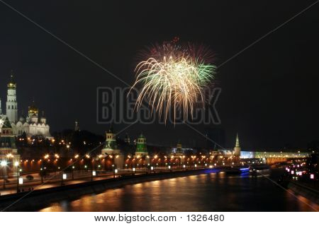 A Firework Near The Kremlin