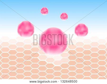 collagen and skin vector . pink collagen