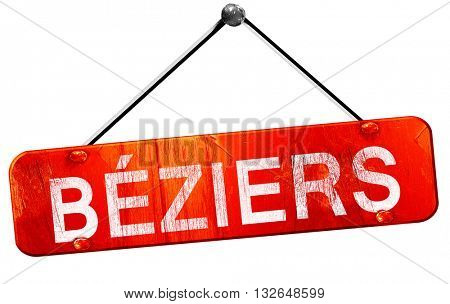 beziers, 3D rendering, a red hanging sign