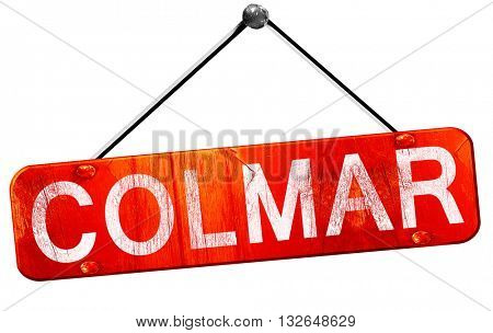 colmar, 3D rendering, a red hanging sign