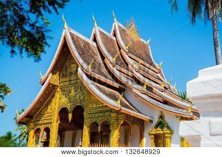 Royal Palace With Gold.luang Prabang.laos.