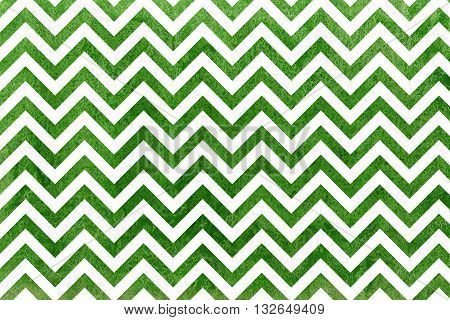 Watercolor Green Stripes Background, Chevron.