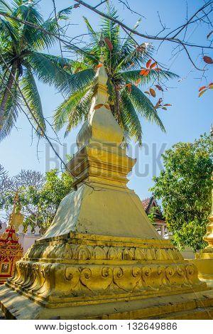 Golden Stupa.luang Prabang.laos.