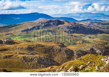 Undulating Landscape In Kerry In Ireland