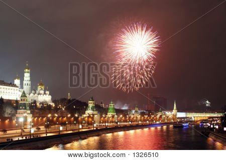 A Firework Near The Kremlin #4