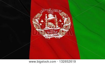 Afghan Flag HD Background - Flag of Afghanistan 3D Illustration