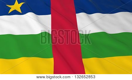 Central African Flag HD Background - Flag of the Central African Republic 3D Illustration