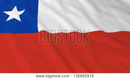 Chilean Flag HD Background - Flag of Chile 3D Illustration