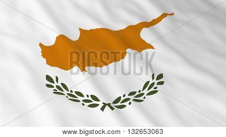Cypriot Flag HD Background - Flag of Cyprus 3D Illustration