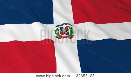 Dominican Flag HD Background - Flag of the Dominican Republic 3D Illustration