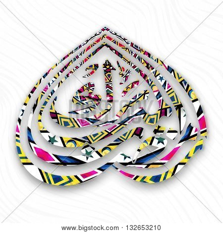 Creative colourful Arabic Calligraphy text Ramazan for Holy Month of Muslim Community Festival Celebration.