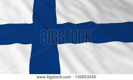 Finnish Flag HD Background - Flag of Finland 3D Illustration