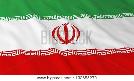 Iranian Flag HD Background - Flag of Iran 3D Illustration