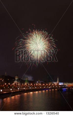 A Firework Near The Kremlin #1