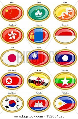 Flags Of The Asia