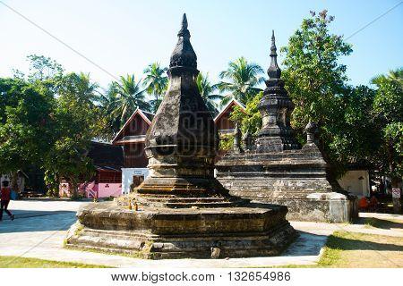 Buddhist Temple, Stupa.luang Prabang.laos.