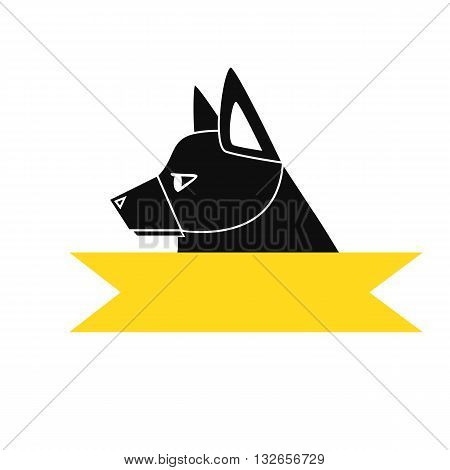 Logo design for dog walking, training or dog related business or  dog head icon vector