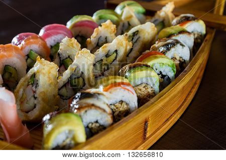 Freshly Prepared Sushi Dish