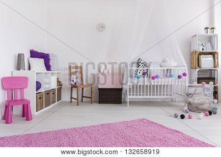 Bedroom Prepared For Little Girl