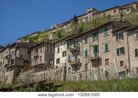 Cityscape of Colle di Val Di Elsa  City Panorama Tuscany Italy