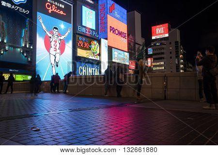 Dotonbori Street In Osaka Japan