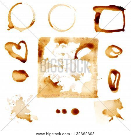 Coffee Stain Circles. Vector