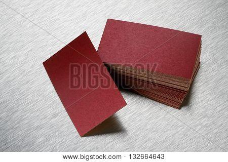 Blank Handmade Paper Business Card for Mockup