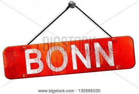Bonn, 3D rendering, a red hanging sign