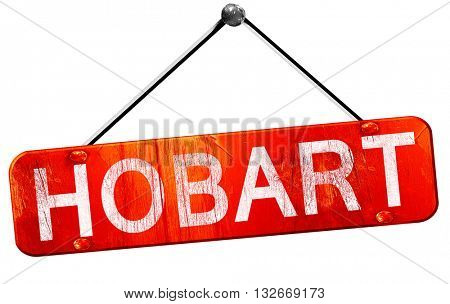 hobart, 3D rendering, a red hanging sign