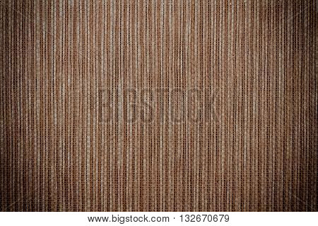 Brown bamboo straw mat for background and texture