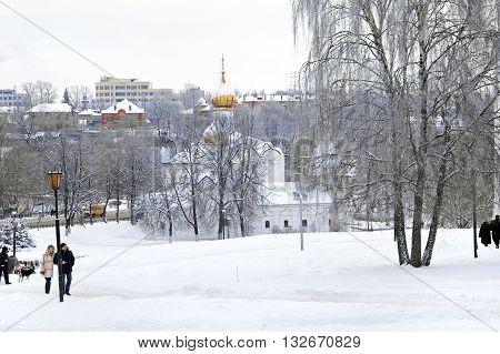 SERGIYEV POSAD RUSSIA - January 02.2010: Little St. Paraskeva Church in Podil near the Trinity Lavra Seogievo