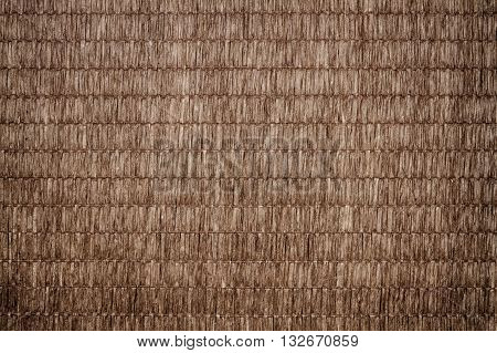 Brown bamboo straw mat for backround and texture