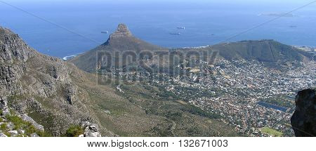 View Of Lions Head From Table Mountain, Cape Town South Africa 26
