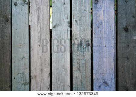 wooden fence made of wood on a plot
