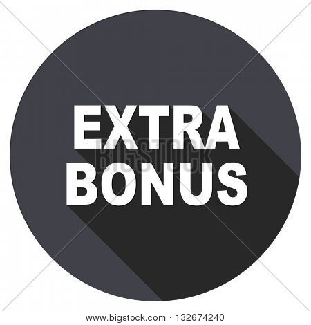 extra bonus vector icon, circle flat design internet button, web and mobile app illustration