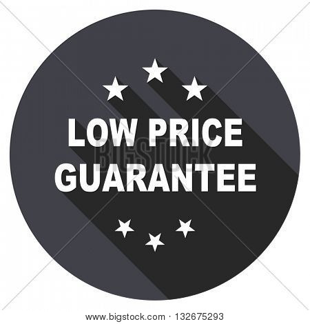 low price guarantee vector icon, circle flat design internet button, web and mobile app illustration