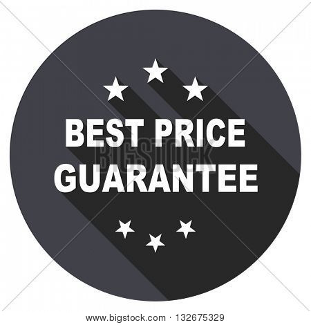 best price guarantee vector icon, circle flat design internet button, web and mobile app illustration