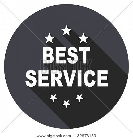 best service vector icon, circle flat design internet button, web and mobile app illustration