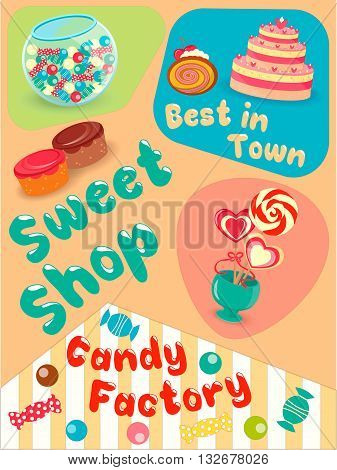 Cakes and Candies in the Sweet Shop the Best in Town