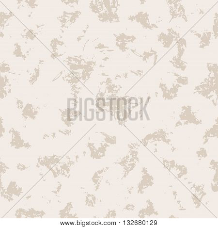 Grunge seamless pattern. Vintage stained background in light creamy colors.
