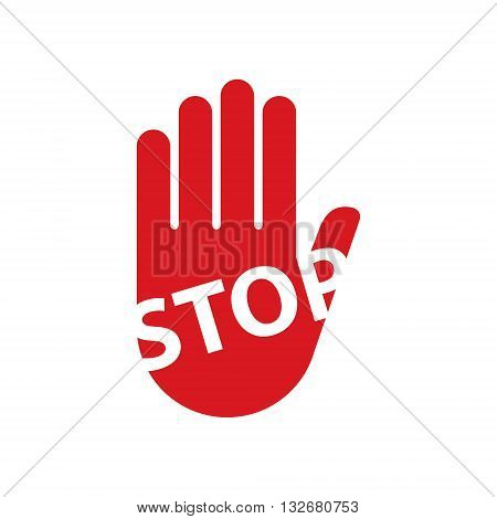 rad Hand sign stop vector illustration concepts