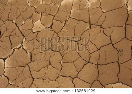Mud drying and cracking: symbol of drought and climate change