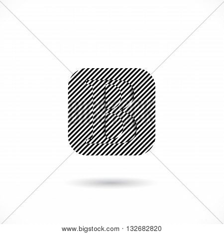 Creative B-letter icon abstract logo design vector template.B-alphabet symbol.Corporate business and education creative logotype symbol. Vector illustration