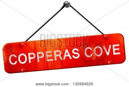 copperas cove, 3D rendering, a red hanging sign